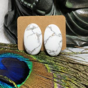Howlite Crystal Earrings #2