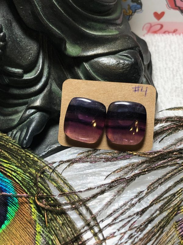 Fluorite Crystal Earrings #4