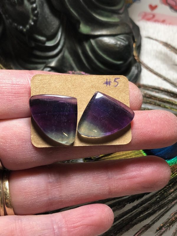 Fluorite Crystal Earrings #5