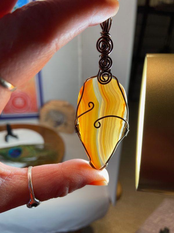 Carnelian Tear Drop Pendant