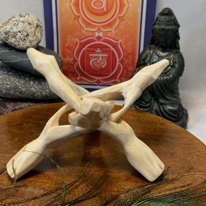 Wooden Tripod Sphere or Abalone Shell Holder