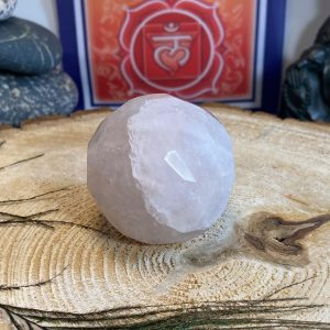 Rose Quartz Faceted Sphere