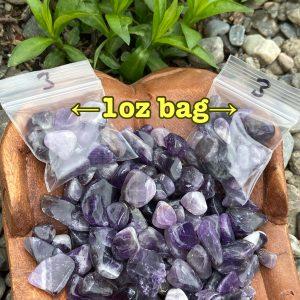 Chevron Amethyst Tumble Crystals