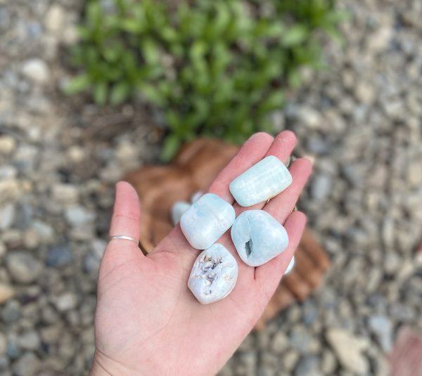 Seafoam Calcite Tumble Crystal
