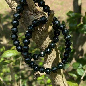 Green Goldstone Faceted Stretch Bracelet