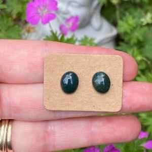Wyoming Jade Stud Earrings